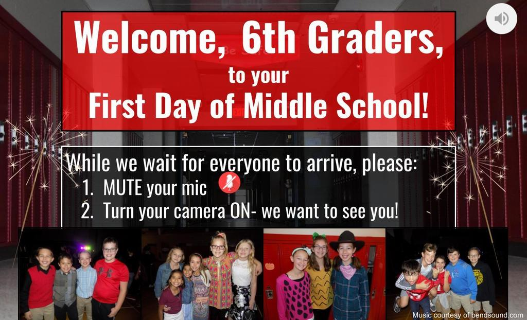 6th Grade Opening Day Orientation